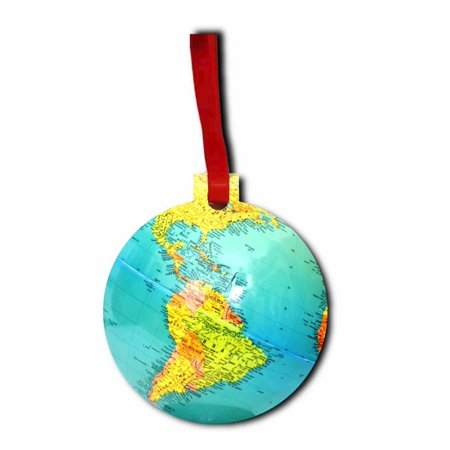 Globe Jacks Outlet TM Hardboard Hanging Holiday Tree Ornament Made in the U.S.A. (Globe Ornament)