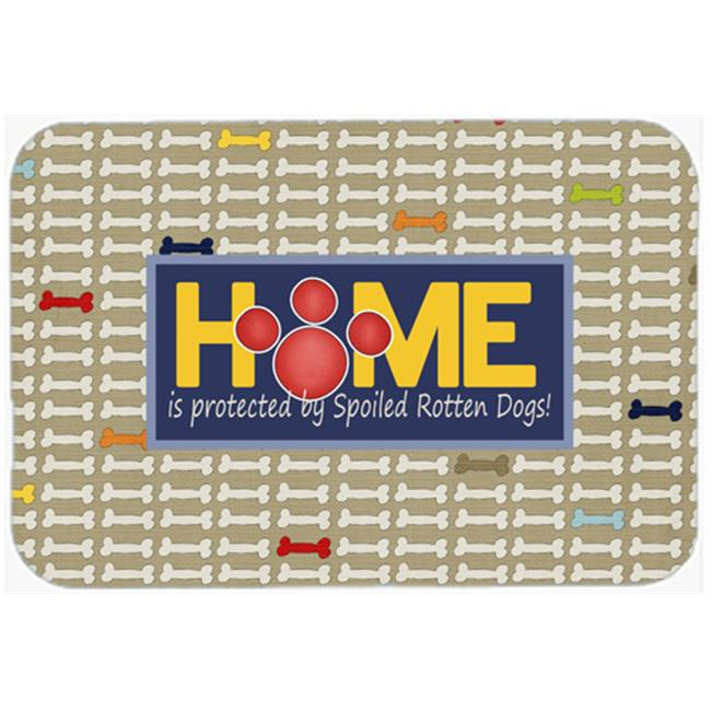 Carolines Treasures SB3053CMT Home is protected by spoiled rotten dogs Kitchen or Bath Mat - image 1 de 1