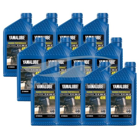 4 Stroke Outboard Engines (Yamaha OEM Outboard 4 Four Stroke Engine Oil Case of 12 Quarts)