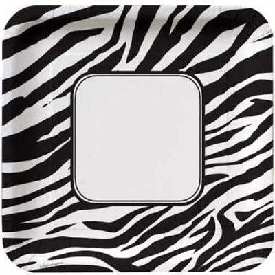 Animal Print Zebra 10-inch Plates , 2PK](Animal Print Plates)