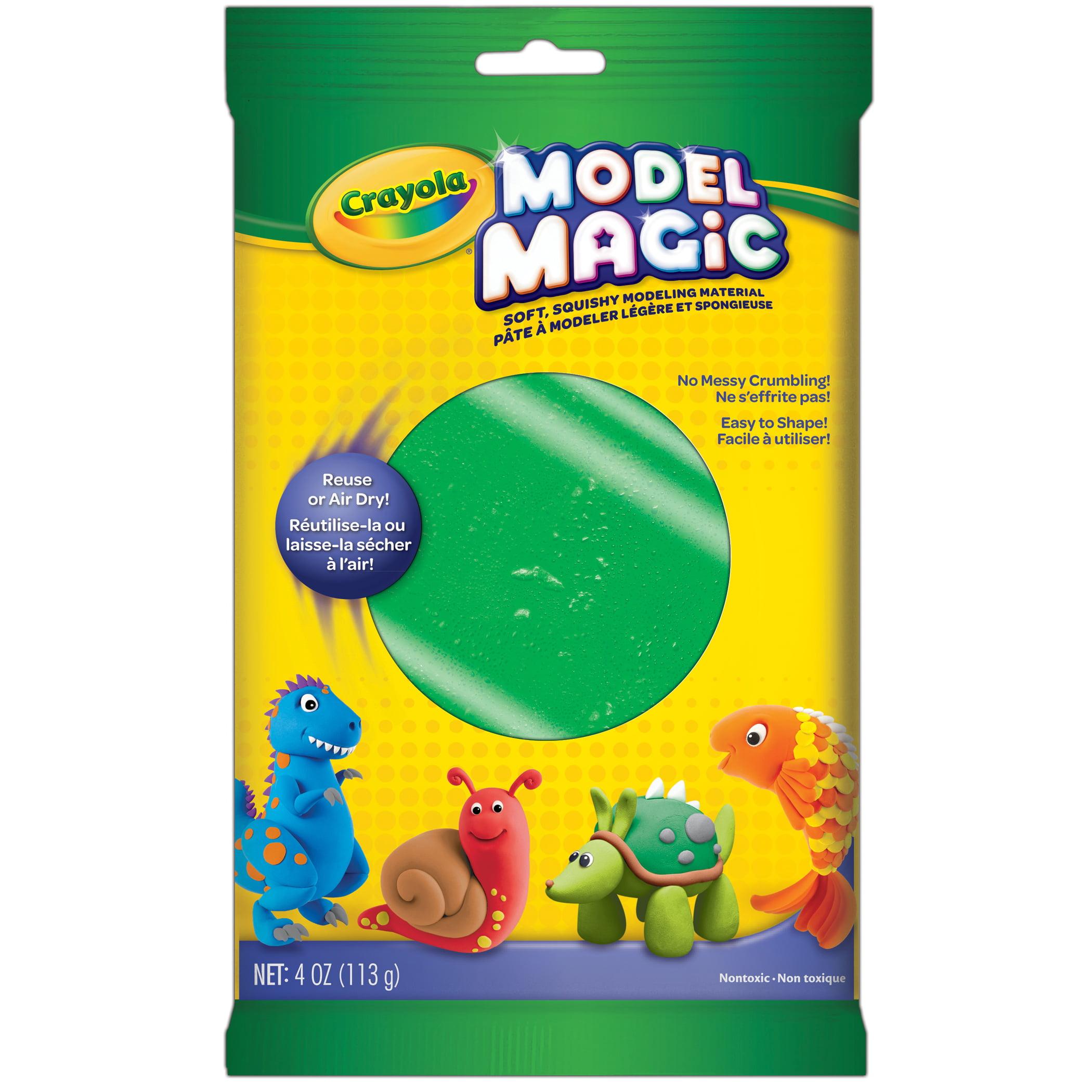 Crayola Model Magic Modeling Compound, Green, 4 Oz Packs, 6 Packs