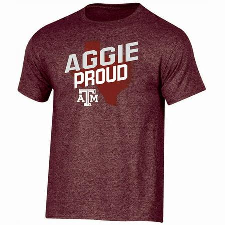 Men's Russell Maroon Texas A&M Aggies Slant - Texas A&m Logo Tee