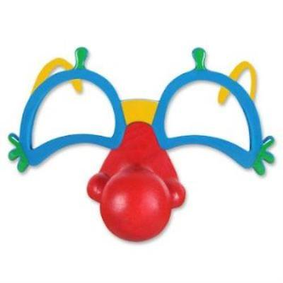 Clown Glasses w/Nose, 2PK
