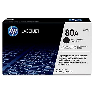 HP 80A Black Original LaserJet Toner Cartridge (Hp 80a Black Original Laserjet Toner Cartridge)
