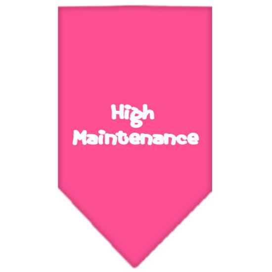 Mirage 66-30 SMBPK High Maintenance Screen Print Pet Bandana Bright Pink Small