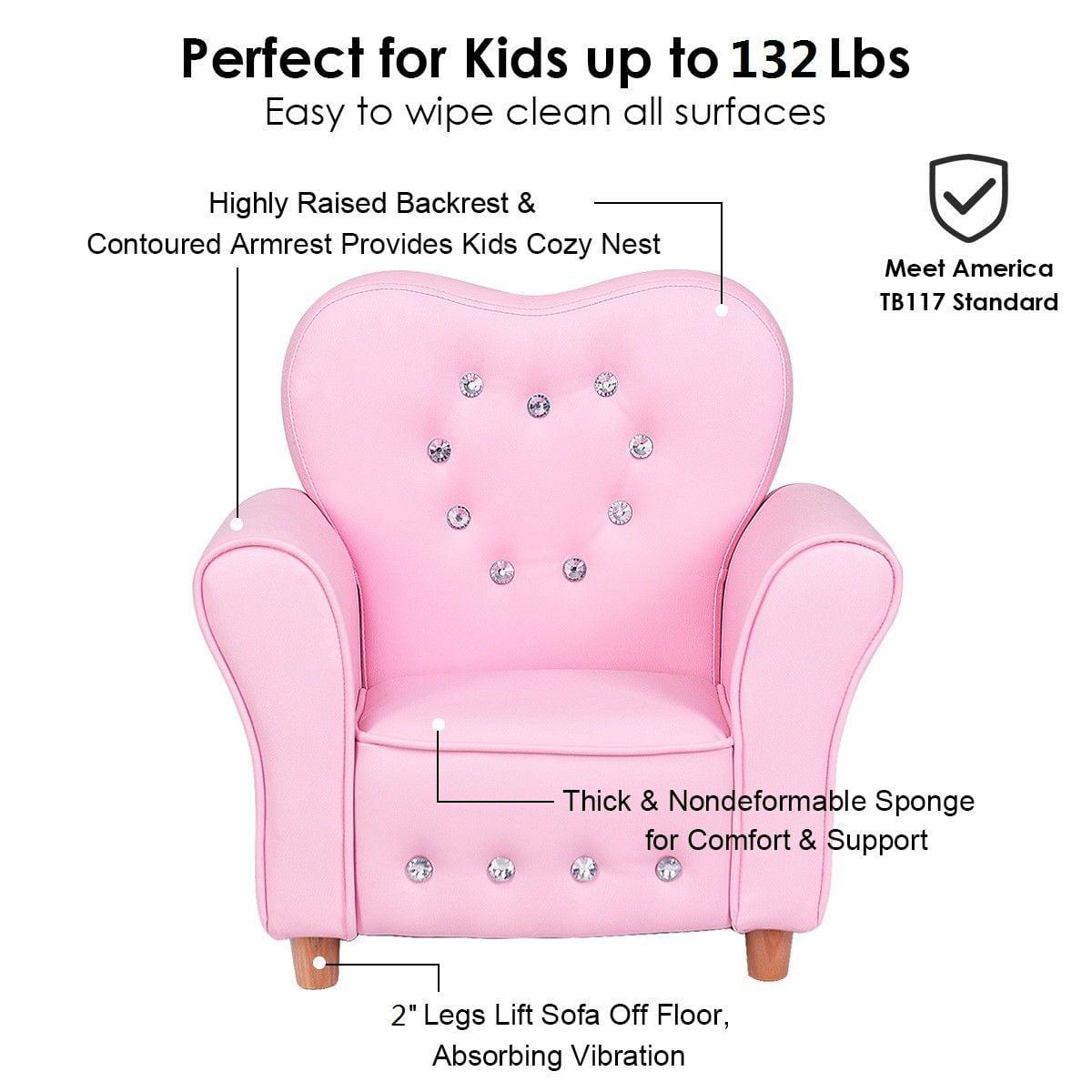 Superb Gymax Pink Kids Teen Sofa Armrest Chair Couch Children Toddler Birthday Gift Girls Dailytribune Chair Design For Home Dailytribuneorg