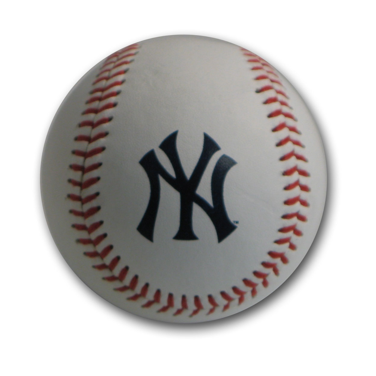 Blank Leather MLB Team Logo Baseballs - New York Y