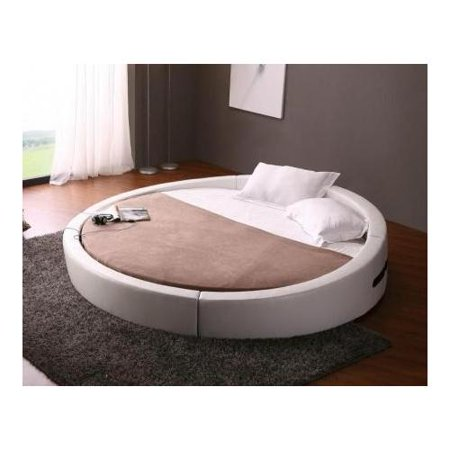 vig furniture vgkcopus opus modern round leather bed