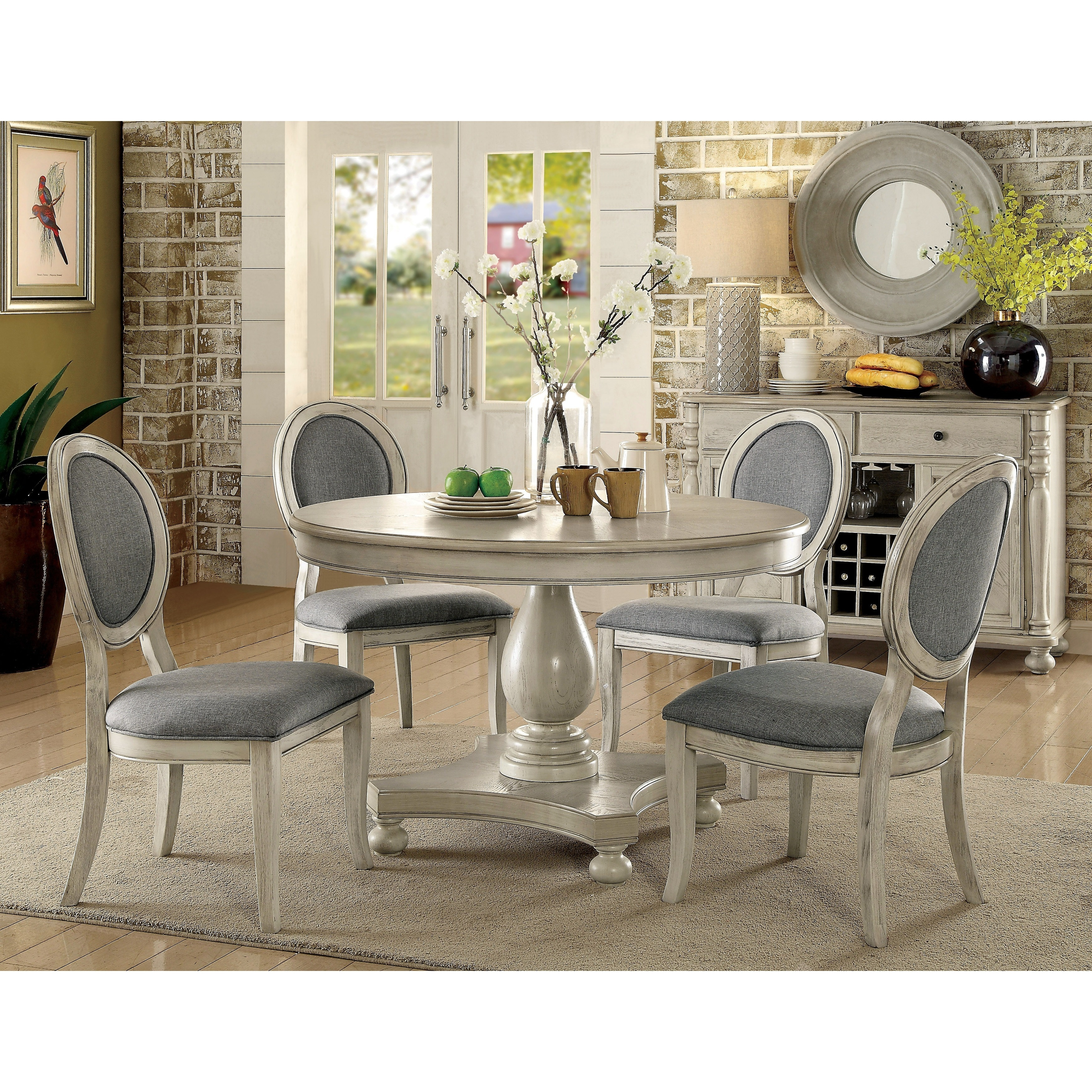Furniture Of America Lelan Traditional Rustic Round 48 Inch Dining Table    Walmart.com