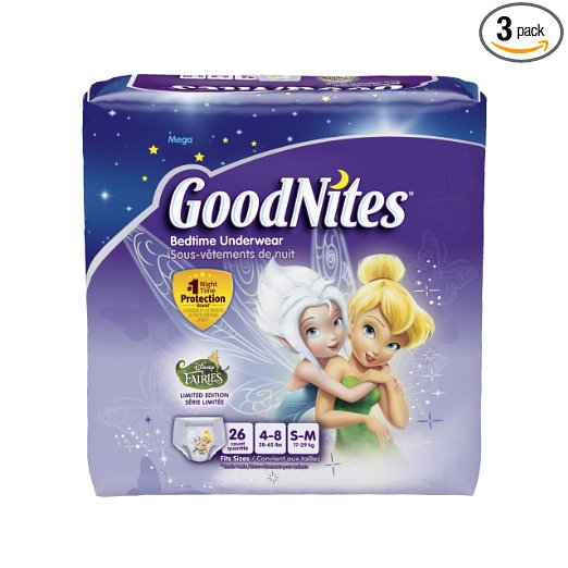 Goodnites Youth Pants for Girls  Small/Medium Mega Pack - 3 Packs of 26 - 78 Total