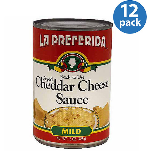 La Preferida Mild Aged Cheddar Cheese Sauce, 15 oz, (Pack of 12)