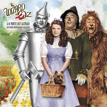 The Wizard Of Oz Wall Calendar  2017 Classic Movies By Acco Brands
