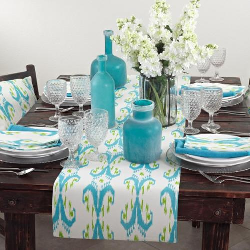Ikat Design Printed Table Linens Multicolored Placemat (13x19) - set of 4