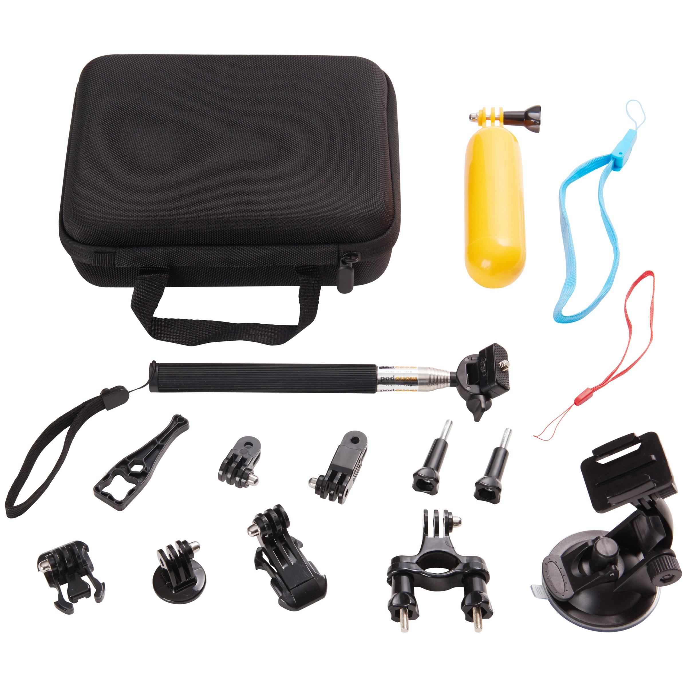 Onn 16-Piece Action Camera Accessory Kit