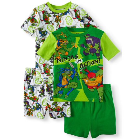 Teenage Mutant Ninja Turtles Onesie (Boy's Teenage Mutant Ninja Turtles 4 Piece Pajama Sleep Set (Little Boy & Big)