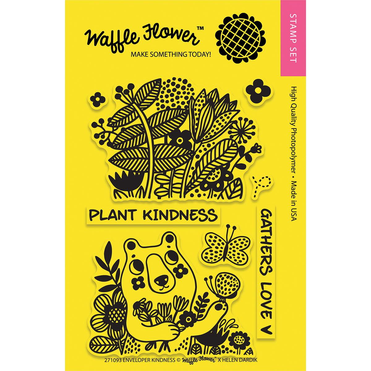 """Waffle Flower Crafts Clear Stamps 4""""X6""""-Enveloper Kindness"""