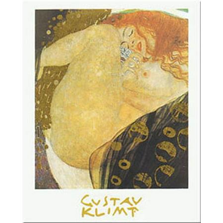 Danae by Gustav Klimt 39.5x27.5 Art Print Poster