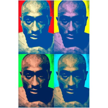 Tupac Shakur Celebrity Singer Pop Art Poster Multiple Images 24X36