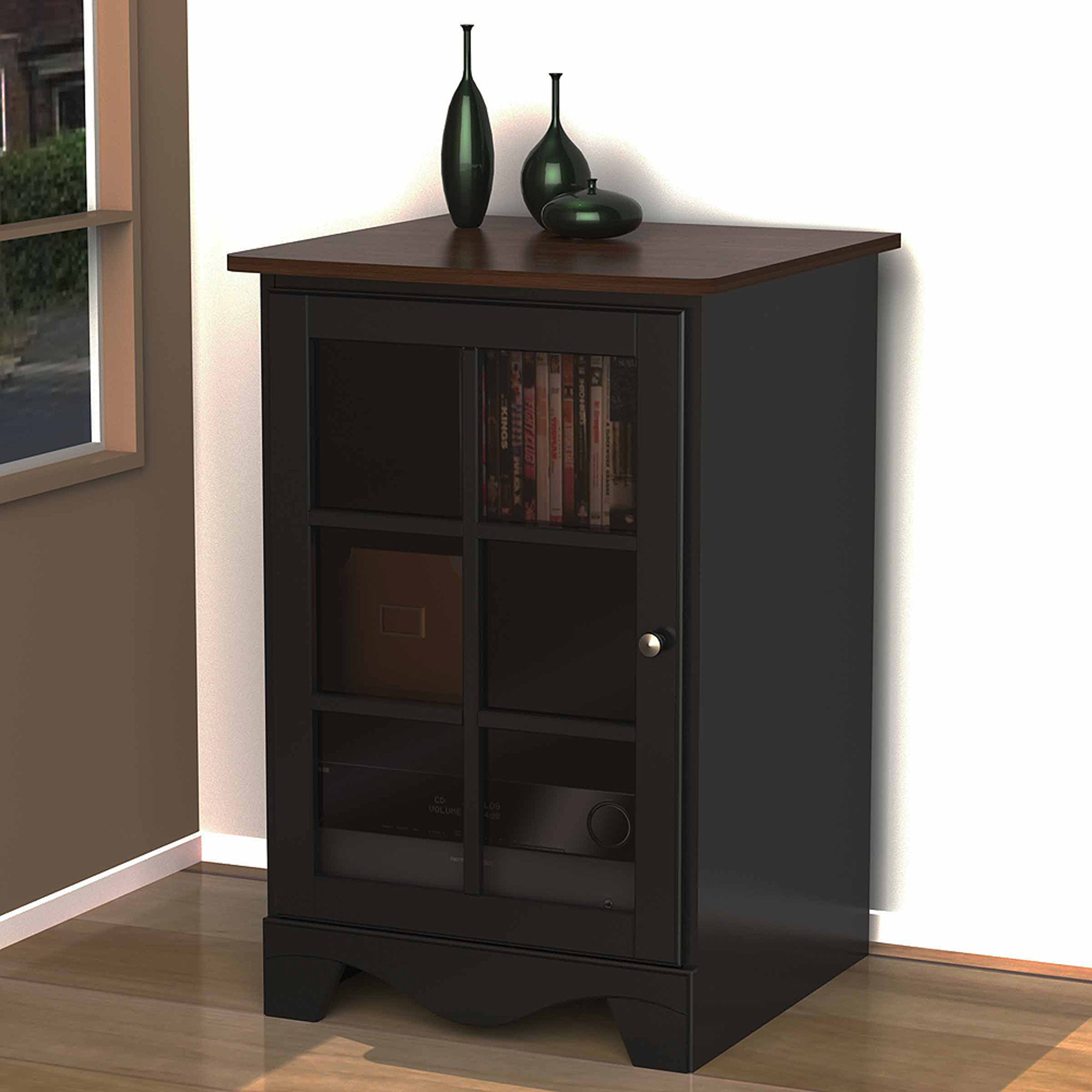 Nexera Pinnacle Cinnamon/Cherry/Black 1-Door Audio Tower