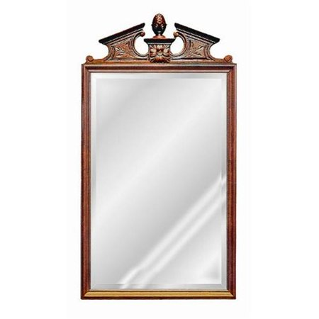 Hickory Manor HM4936WL Pineapple Cartouche Walnut Decorative Mirror
