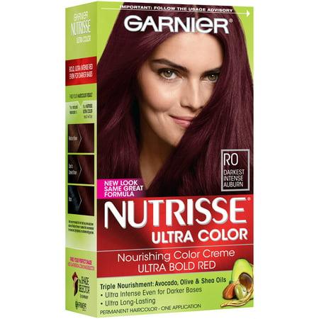 Garnier Nutrisse Ultra Color Nourishing Color Creme, R0 Darkest Intense Auburn
