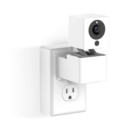 Outlet Wall Mount Hanger Stand for Wyze Camera and iSmartAlarm Spot Camera without Messy Wires or Wall Damage(just a bracket)