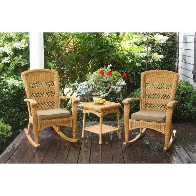 Tortuga Portside 3 Piece Plantation Patio Bistro Set in Amber