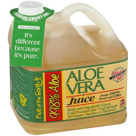 Juice Drinks - Fruit of the Earth Aloe Vera Juice, Original, 128 Fl Oz, 1 Count