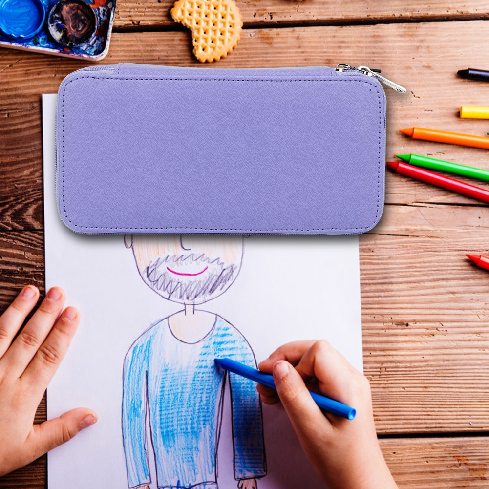 Details about  /Solid Colors Plush Pencil Case Quality PU School Supplies Stationery Gift Tools