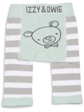 Izzy & Owie - Green Striped Bear Baby Leggings 0-6 Months