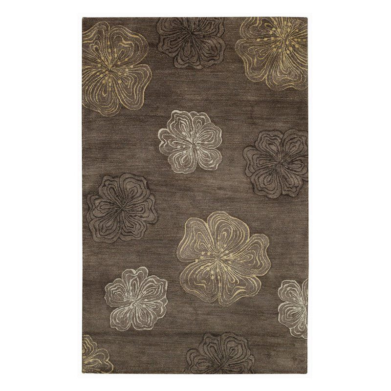 Capel Rugs Desert Plateau-Hibiscus Area Rug - Brown-7 x 9 ft.