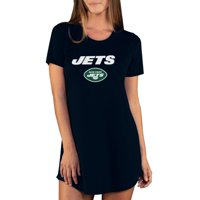 New York Jets Concepts Sport Women's Marathon Knit Nightshirt - Black