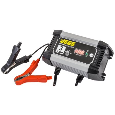 JEGS 81954 3 Amp Battery Charger & Maintainer for 6 & 12