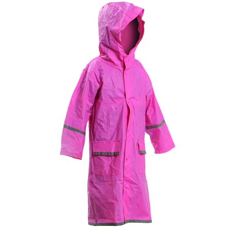 Kids Water Proof Rain Coat with Reflector - Juniors Premium Rain