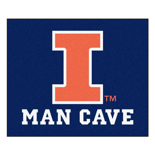 FANMATS NCAA University of Illinois Man Cave Indoor/Outdoor Area Rug