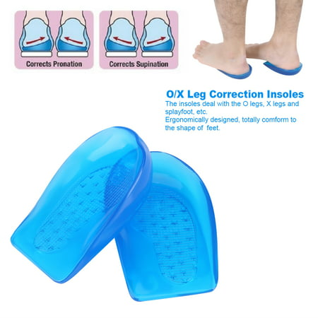 Silicone Gel O/X Leg Correction Insoles Foot,Silicone Gel O/X Leg Correction Insoles Foot Orthotic Arch Support Shoes Insert Pads Heel Cup