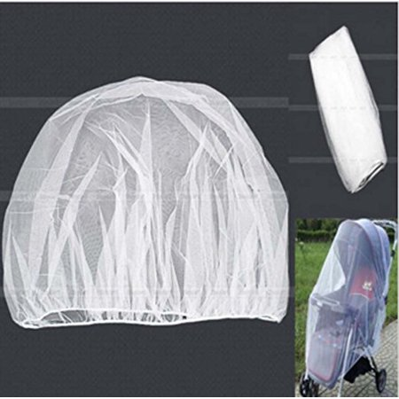 Mosquito Net, Bug Net for Baby Strollers Infant Carriers Car Seats Cradles, White The mesh allows for air flow and circulation to keep the baby comfortable and cool during use. And Protects baby from mosquitos and flying insects. Fits standard strollers, carriers, carriages, pack and plays, bassinets and cradles.