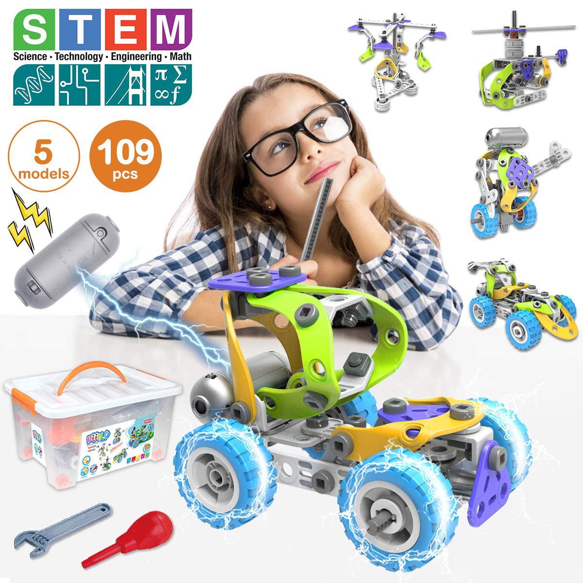 STEM Toys Kit 5 in 1 Motorized Educational Construction ...