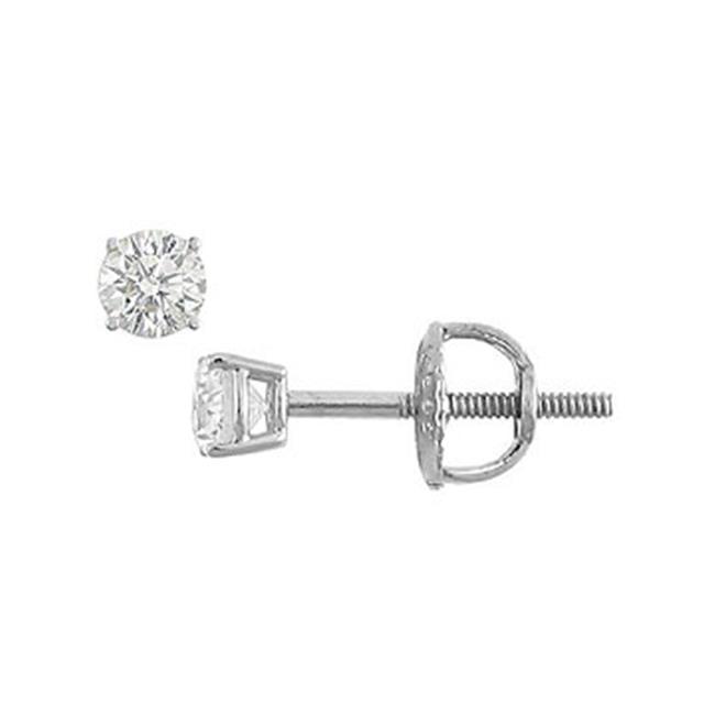 Fine Jewelry Vault 18K - Round Diamond Stud Earrings - 0. 10 CT.  TW.