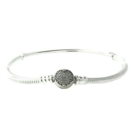 Authentic Pandora Sparkling Heart Bracelet Clear Cz 590743cz 23 9 1 In
