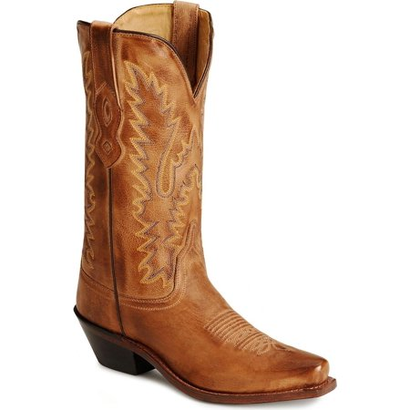 Old West Distressed Leather Cowgirl Boot - Snip Toe - SLF7040_XX