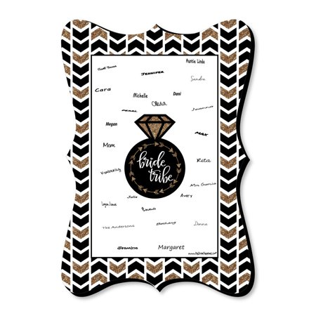 Bride Tribe - Unique Alternative Guest Book - Bridal Shower or Bachelorette Party Signature Mat