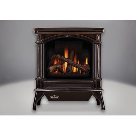 Napoleon GDS60-1NSB 35000 BTU Free Standing Direct Vent Natural Gas Stove with S (Napoleon Gas Wood Stove)