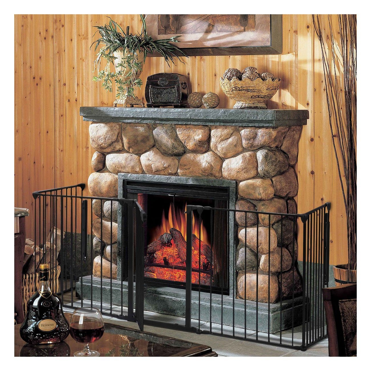 Fireplace Baby Safety Fence Hearth Gate BBQ Metal Fire Gate Pet Dog Cat