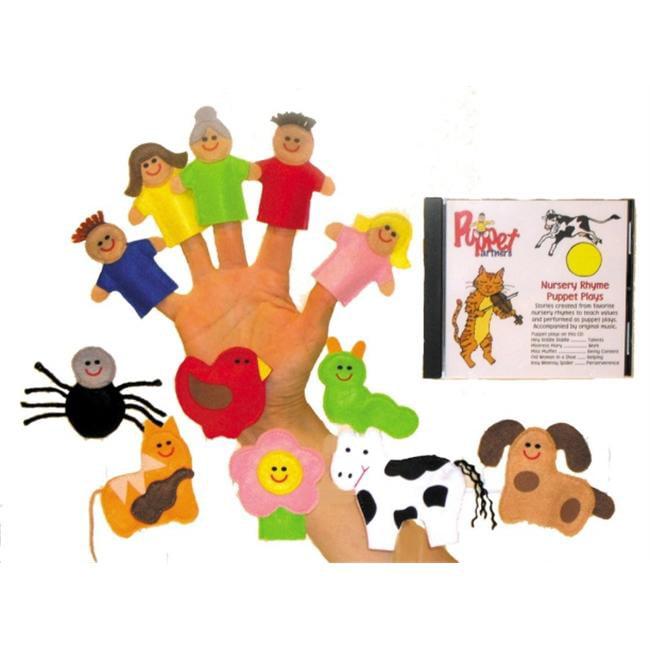 Get Ready 506 Nursery Rhyme Finger Puppet Set