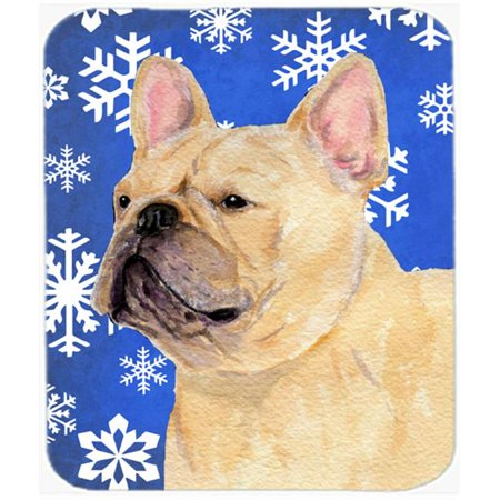 Carolines Treasures SS4623MP French Bulldog Winter Snowflakes Holiday Mouse Pad, Hot Pad or Trivet - image 1 of 1