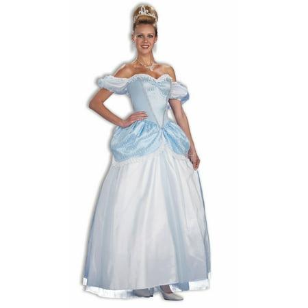 Story Book Cinderella Princess Blue Dress Costume Adult