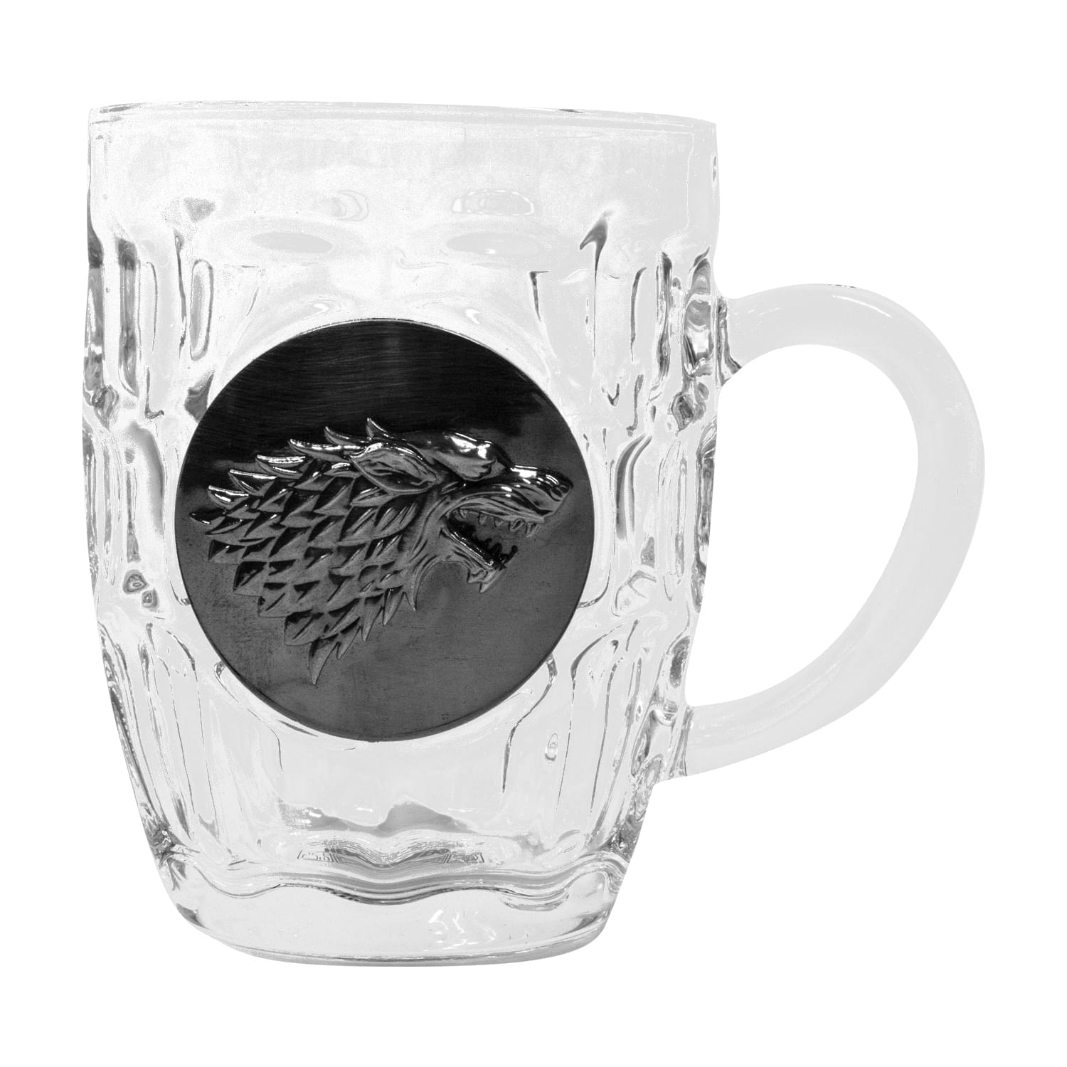 Game of Thrones House Stark Crystal Stein | Unique Drinking Glass | 16 Oz.