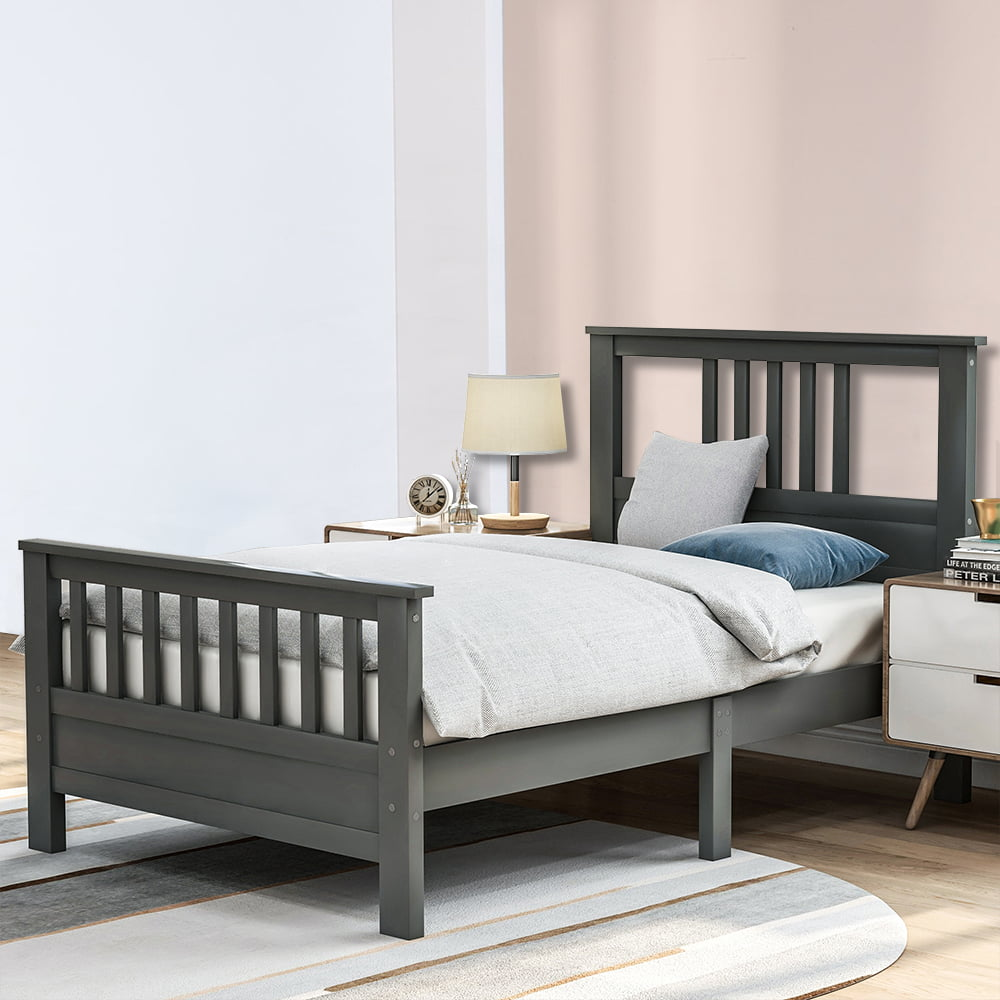 twin bed frame with headboard gray twin bed frame for