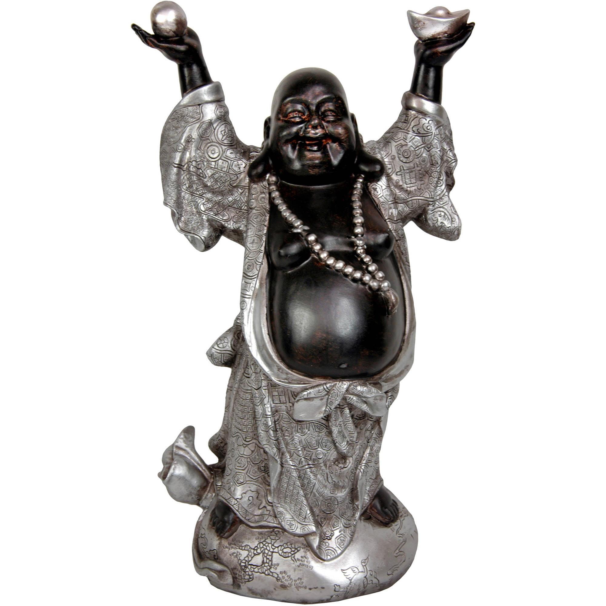 "17"" Standing Prosperity Buddha Statue by Oriental Furniture"